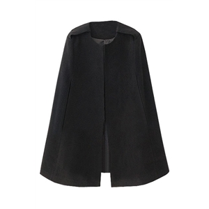 Fitted Epaulette Black Cape