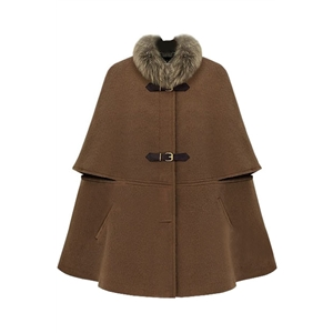 Fitted Big Hasps Brown Cape