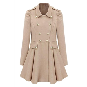 Double-breasted Cream Trench Coat