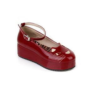 Wide-cut Cat Vamp Red Creepers