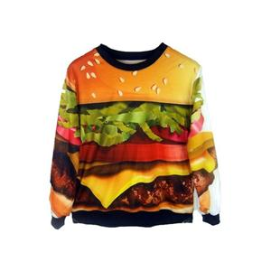 Hamburger Print Sweatshirt