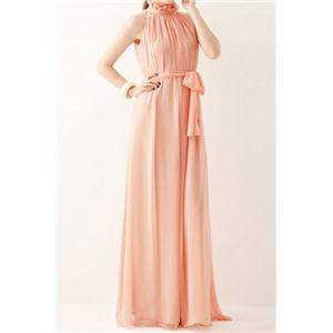 Bridal party dress Off-shoulder Lace-up Pink Pleated Maxi Dress
