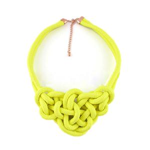 Twine Elastic Yellow Necklace