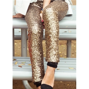 Sequined Gold Silver Leggings Glitter Pants On Sale