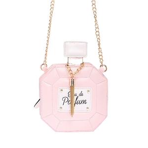 Perfume Shaped Mini Pink Bag
