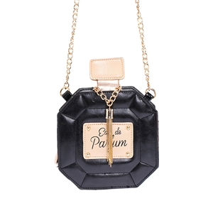 Perfume Shaped Mini Black Bag