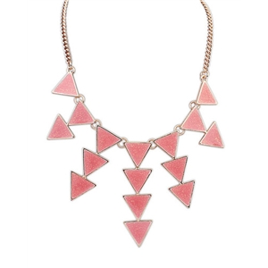 Red Gold Triangle Chain Necklace
