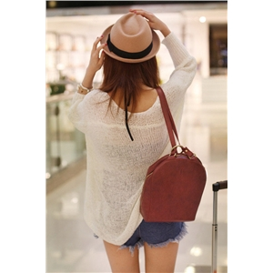 Open Knit Batwing Sweater Loose fit