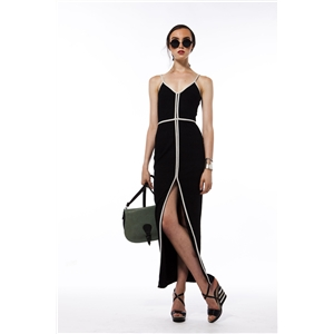 Maxi Dress Split  Spaghetti Strap Sexy Dress