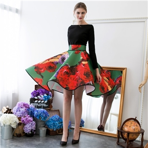 Stunning Print Skirt  Unique  Party Wear