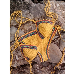 Triangle Crochet Bikini Two pieces Vintage.