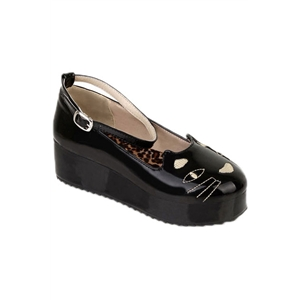 Wide-cut Cat Vamp Black Creepers