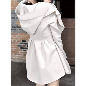 White Hooded Loose Coat