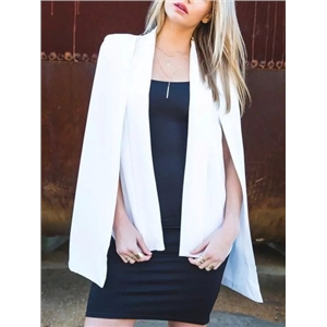 White Slim Cape Coat