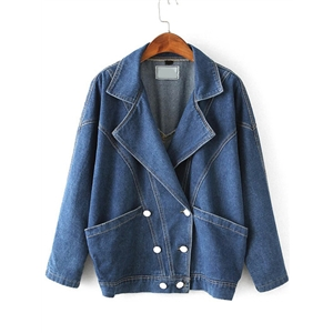 Bat Sleeve Denim Boyfrind Coat