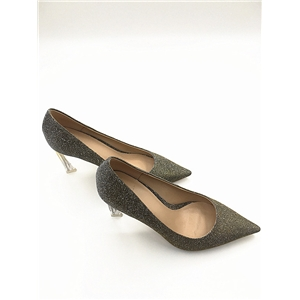 Glitter Pointed Pump, Light Golden