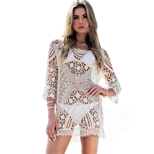 Crochet Cover Up Swimsuit knit Beach dress