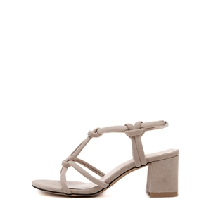 Apricot Open Toe Crisscross-strap Chunky Gladiator Sandals