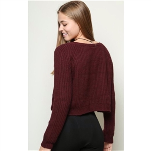 Autumn long-sleeved knitting pullover sweater