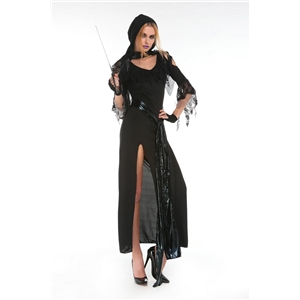 Black Spider Bride Dress Halloween Vampire Ghost Costume