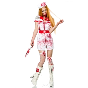 Bloody Nurse Halloween Role-playing Costume