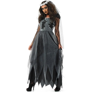Halloween Zombie Costume Ghost Bride Dress