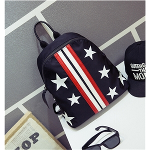 Stars Print Simple Design Nylon Backpack