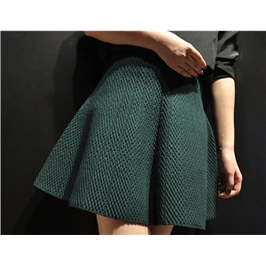 High Waist Stretch A Line Knit Skirt