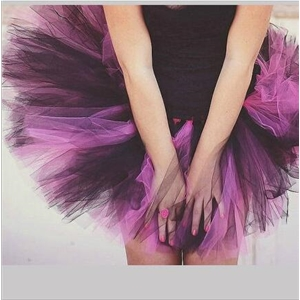 Purple Color Sexy Party Tutu Skirt