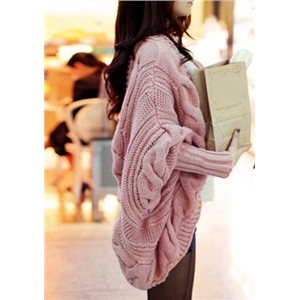 Knitted Loose Bat-sleeve Cardigan Sweater