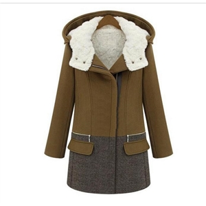 Thick Berber Fleece Hooded Woolen Coat