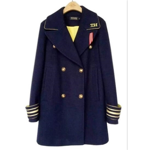 Navy Double Breasted Woolen Coat