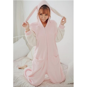 Thick Warm Coral Velvet Cartoon Pajamas