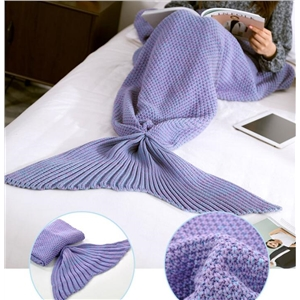 Purple Mermaid Tail Blanket