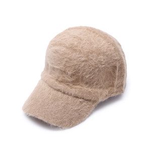 Khaki Fluffy Thermal Casual Baseball Cap