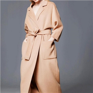 lengthened and thickening Cashmere coat