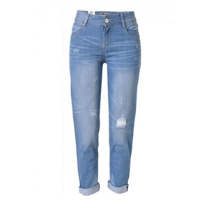 Boyfriend Whiskered Ripped Mid-Rise Jean