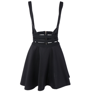 A Line Suspender Skirt
