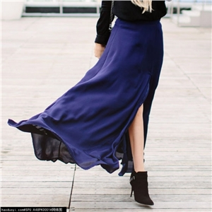 SEASIDE SOIREE NAVY BLUE MAXI SKIRT_1