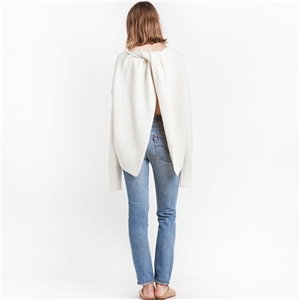 IVORY TWIST KNOT OVERSIZE SWEATER BY NEW REVIVAL