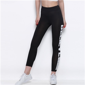European and American street fashion simple letters printed slim slimming leggings