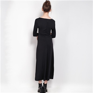 Fashion elegant deep v slim sexy side slit dress dresses dresses women