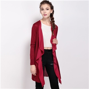 Autumn in chiffon dresses new fashion mosaic Cardigan long sweater coat