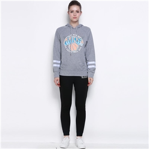 European fashion casual basketball alphabet print loose hooded sweater women