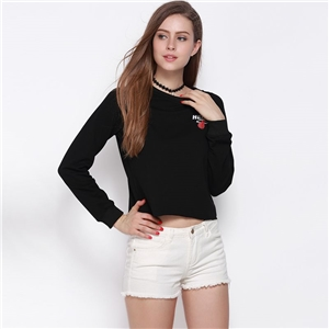 Streets of European and American fashion personality print pullover crew neck thread long sleeve sweater