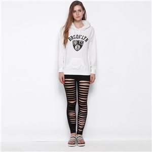 European fashion streets burst two-sided letter printed blouse casual hooded sweater