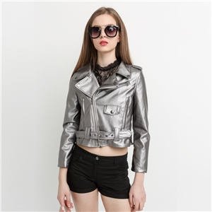 Street punk style leather motorcycle leather clothing fashion short jacket
