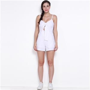 Sexy deep v-cut one-piece shorts slim slimming pants