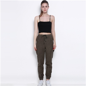 Streets of Europe and double pockets waist tie waist slimming pants