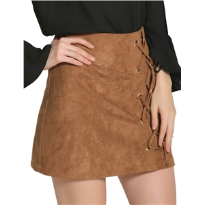 Fashion sexy high waist strap suede bag hip skirt skirt